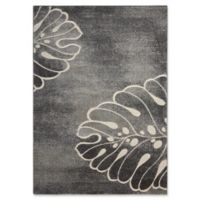 """Nourison Maxell 9'3"""" x 12'9"""" Machine Woven Area Rug in Grey"""