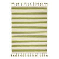 """Nourison Solano 5' x 7'6"""" Hand Woven Area Rug in Ivory/Green"""