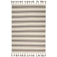 """Nourison Solano 8' x 10'6"""" Hand Woven Area Rug in Ivory/Grey"""