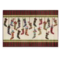 Brumlow Mills® Stocking Stripes 2-Foot 6-Inch x 3-Foot 10-Inch Multicolor Accent Rug