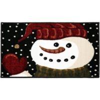 Brumlow Mills® Midnight Snowman 1-Foot 8-Inch x 2-Foot 10-Inch Accent Rug in Dark Blue