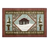 Brumlow Mills® Snowy Cabin 1-Foot 8-Inch x 2-Foot 10-Inch Multicolor Accent Rug