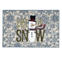 "Brumlow Mills ""Let It Snow"" 2-Foot 6-Inch x 3-Foot 10-Inch Accent Rug in Opal"