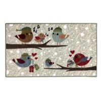 Brumlow Mills Festive Birds 1-Foot 8-Inch x 2-Foot 10-Inch Accent Rug in Opal