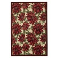 Brumlow Mills® Poinsettia 1-Foot 8-Inch x 2-Foot 10-Inch Accent Rug in Garnet