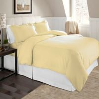 Pointehaven Solid Twin/Twin XL Flannel Duvet Cover Set in Off White