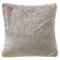 Waterford® Glenmore Faux Fur Throw Pillow in Oatmeal