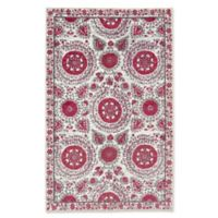 Mohawk Home Suzani 5-Foot x 8-Foot Area Rug in Hot Pink