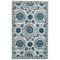 Mohawk Home Suzani 7-Foot 6-Inch x 10-Foot Area Rug in Aqua