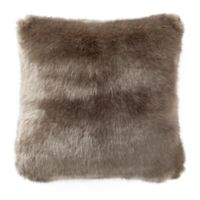 Waterford® Carrick Faux Fur Throw Pillow in Gold