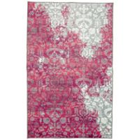 Mohawk Home Aurora Naomi 7-Foot 6-Inch x 10-Foot Area Rug in Hot Pink