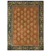 Patina Vie by Karastan 5' x 8' Floret Area Rug in Saffron