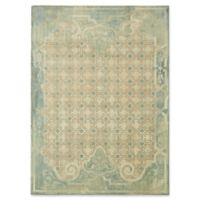 "Patina Vie by Karastan 5'3"" x 7'10"" Lakeside Cottage Area Rug in Aqua"