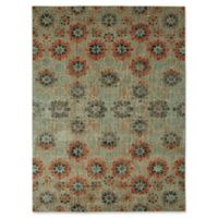 "Patina Vie by Karastan 5'3""x7'10"" In Bloom Area Rug in Turquoise"