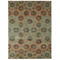 Patina Vie by Karastan 8' x 10' In Bloom Area Rug in Turquoise
