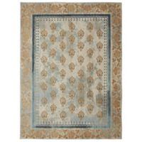 Patina by Karastan 8' x 10' Floret Area Rug in Gold
