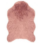 Jean Pierre Faux Fur 2' x 3' Accent Rug in Blush
