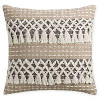 Bridge Street Siena Square Throw Pillow in Ivory