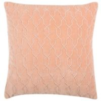 Safavieh Kas Link Square Throw Pillow in Blush