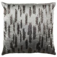 Safavieh Jasper Slash Square Throw Pillow in Grey