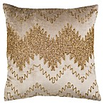 Safavieh Sparkle Square Throw Pillow in Gold