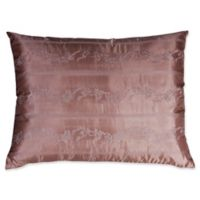 Belgravia Embroidered Silk Oblong Throw Pillow in Pink