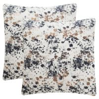 Safavieh Bess Square Throw Pillows in Pewter (Set of 2)