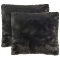 Safavieh Fox Square Throw Pillows in Silver (Set of 2)