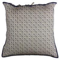 Country Trellis European Pillow Sham in Blue