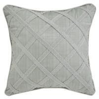 Croscill® Caterina Criss-Cross Throw Pillow in Sage