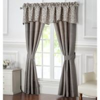 Waterford® Charlize 84-Inch Rod Pocket Window Curtain Panel Pair in Grey