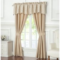 Waterford® Charlize 84-Inch Rod Pocket Window Curtain Panel Pair in Gold