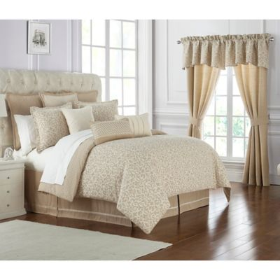 waterford charlize california king comforter set in gold
