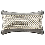Waterford® Charlize Breakfast Throw Pillow in Grey