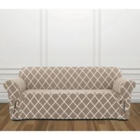 Sure Fit® Lattice Sofa Slipcover in Tan