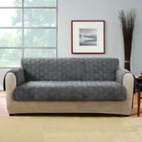Sure Fit® Silky Touch Loveseat Protector in Grey