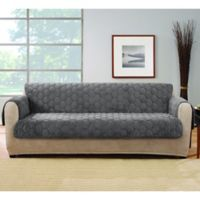 Sure Fit® Silky Touch Sofa Protector in Grey