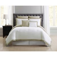 Truly Soft Everyday Hotel 7-Piece Full/Queen Duvet Cover Set in Khaki/White
