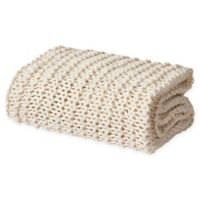 Oscar/Oliver Luca Chunky Knit Throw Blanket in Ivory
