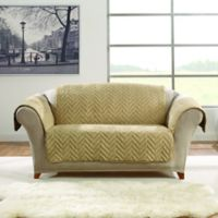 Sure Fit® Faux Fur Loveseat Protector in Blonde