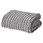 Oscar/Oliver Luca Chunky Knit Throw Blanket in Grey