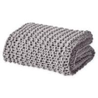 Oscar/Oliver Luca Chunky Knit Throw Blanket in Grey