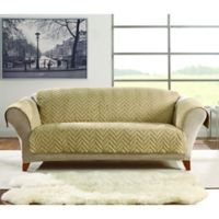 Sure Fit® Faux Fur Sofa Protector in Blonde