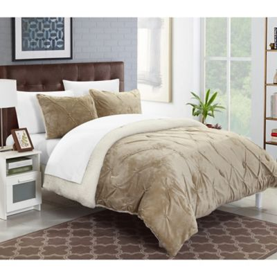 sherpa hypoallergenic vcny home reversible resistant microfiber mink queen piece wrinkle ac super com soft gray amazon bed dp set micro comforter kitchen