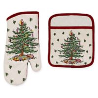 Spode® Christmas Tree by Avanti Pot Holder and Oven Mitts Set