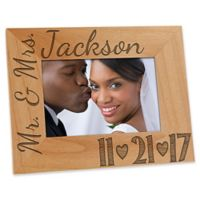 Our Wedding Date 4-Inch x 6-Inch Picture Frame