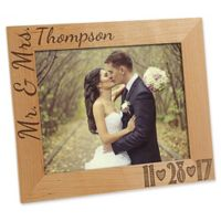 Our Wedding Date 8-Inch x 10-Inch Picture Frame