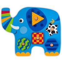 Stephen Joseph® Elephant-Shaped Wooden Peg Puzzle