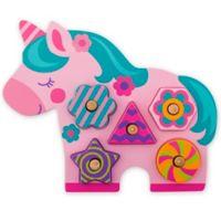 Stephen Joseph® Unicorn-Shaped Wooden Peg Puzzle