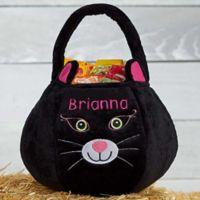Black Cat Plush Treat Bag